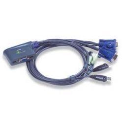 ATEN CS-62U mini přepínač počítačů (Klávesnice USB, VGA, Myš USB, Audio) 2:1 USB, integrované kabely