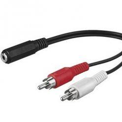 PremiumCord Kabel Jack 3.5mm-2xCINCH F/M 1,5m