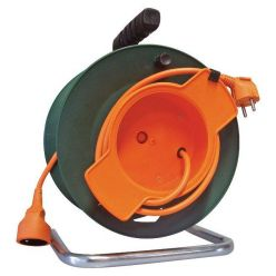 Prodlužovací kabel 25m na bubnu, průřez 1,5mm, oranžový