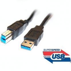 PremiumCord Kabel USB 3.0 Super-speed 5Gbps  A-B, 9pin, 5m
