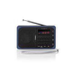 Nedis RDFM2100BU - FM Rádio | 3,6 W | Port USB a Slot na microSD kartu | Černá / Modrá