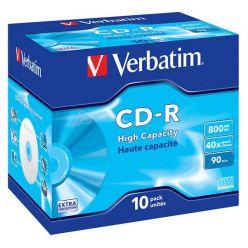 Verbatim CD-R High Capacity, 800MB, 40x, 10ks, jewel case