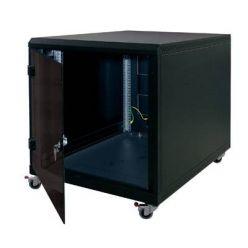 """Triton 19"""" kontejnerový rozvaděč 12U, 1000hl, barva černá, pechové dveře"""