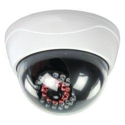 KÖNIG atrapa bezpečnostní kamery s infračervenou LED, kopulovitá, venkovní