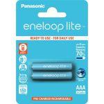 Panasonic eneloop lite, AAA, Ni-Mh, 2ks, 550mAh, 3000 cyklů
