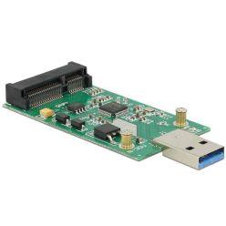 Delock převodník USB 3.0 A male -> mSATA full size