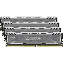 Crucial DDR4 32GB (Kit 4x8GB) Ballistix Sport LT DIMM 2400MHz CL16 SR x8 šedá