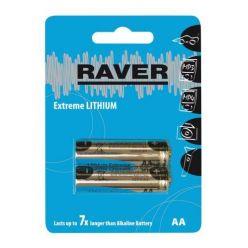 RAVER Extreme, lithiové AA baterie, 2 ks