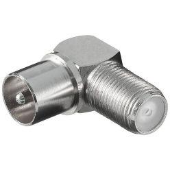 Goobay anténní redukce F(F) konektor - PAL(M) IEC, lomená 90°