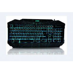 Crono CK2115 - herní klávesnice se 3 barvami podsvětlení , USB, CZ, černá