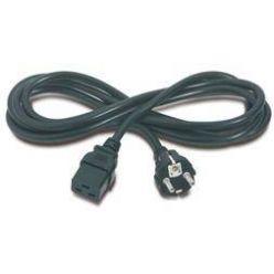 PremiumCord Kabel síťový k počítači 230V 16A 3m  IEC 320 C19 konektor