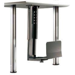 Držák PC pod desku stolu, černý, 30kg