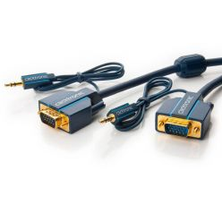 Clicktronic sdružený propojovací VGA + audio kabel, 5m, pozlacené konektory
