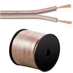 PremiumCord Kabely na propojení reprosoustav 100% CU měď 2x0,5mm2 1m