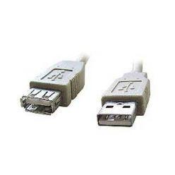 PremiumCord USB 2.0 kabel prodlužovací, A-A, 3m, šedý