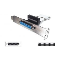 Digitus záslepka slotu s paralelním portem + kabel 0,25m