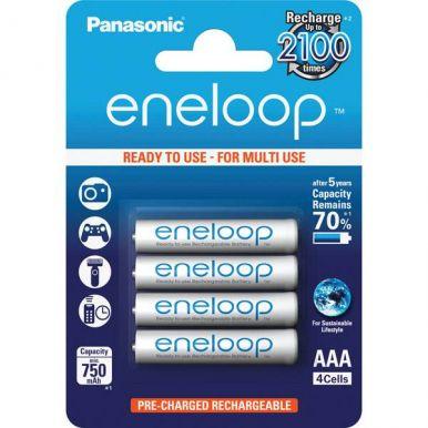 Panasonic eneloop, AAA, Ni-Mh, 4ks, 750mAh, 2100 cyklů
