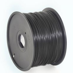 GEMBIRD 3D PLA plastové vlákno pro tiskárny, průměr 1,75 mm, černé