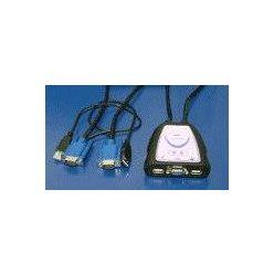 Mini přepínač počítačů 2:1 (Klávesnice USB, VGA, Myš USB)