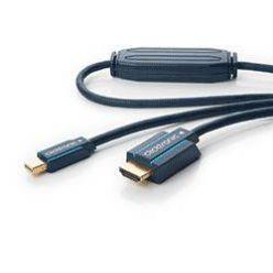HQ OFC DisplayPort - HDMI kabel, miniDP(M) -> HDMI A(M), 1m